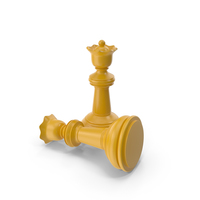Chess Queen Yellow PNG & PSD Images