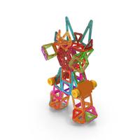 Magnetic Blocks Robot Transformer PNG & PSD Images