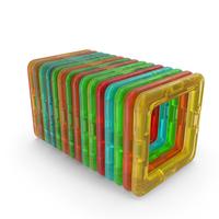 Magnetic Designer Toy Foursquares Set PNG & PSD Images