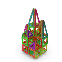 Magnetic Designer Toy House PNG & PSD Images