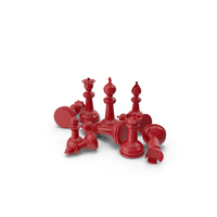 Chess Pieces Red PNG & PSD Images