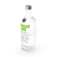Absolut Lime Flavored Vodka PNG & PSD Images