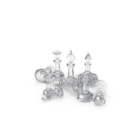 Chess Pieces Glass PNG & PSD Images