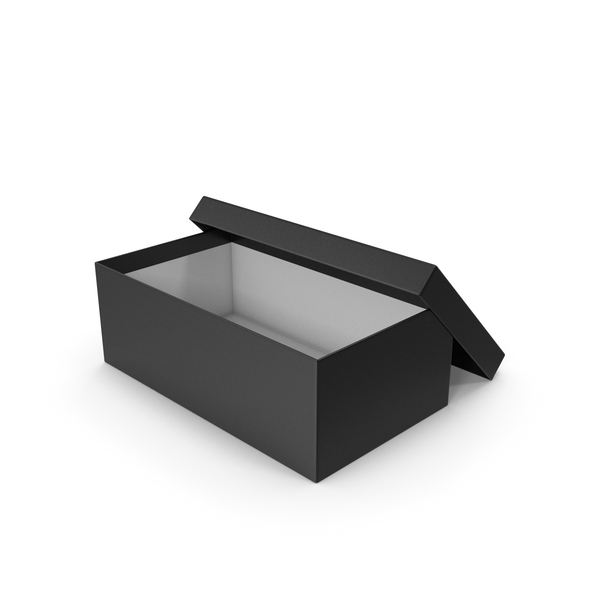 Black Shoe Box Opened PNG & PSD Images
