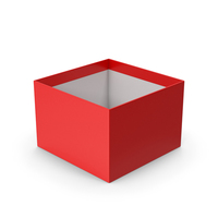 Box Red No Cap PNG & PSD Images