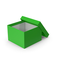 Green Box Opened PNG & PSD Images