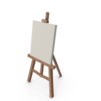 Easel And Paint Canvas PNG & PSD Images