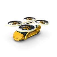 Sci-Fi Taxi Individual Futuristic Aircraft PNG & PSD Images