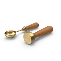 Brass Stamp And Spoon For Sealing Wax PNG & PSD Images