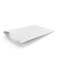 Zipper White Paper Bag 50g PNG & PSD Images