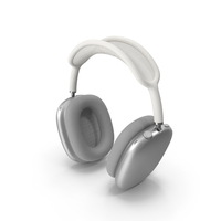 AirPods Max Headphones Silver PNG & PSD Images