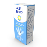 Allergy Symptom Controller Spray Box PNG & PSD Images