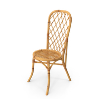 Bamboo Dining Chair PNG & PSD Images