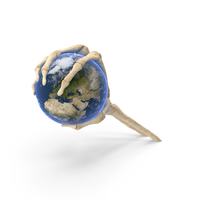 Skeleton Hand Holding Earth PNG & PSD Images