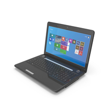 Black Glossy Laptop PNG & PSD Images