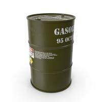 Gasoline 95 Octane Metal Barrel PNG & PSD Images