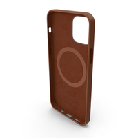 iPhone 12 Leather Case with MagSafe Saddle Brown PNG & PSD Images