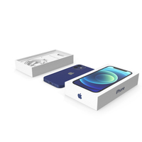 iPhone 12 Mini Unboxed Blue PNG & PSD Images