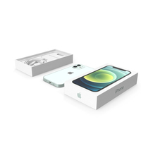 iPhone 12 mini Unboxed Green PNG & PSD Images
