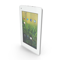 """Android light PC Tablet 7"""" PNG & PSD Images"""