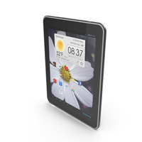 """Android Gray PC Tablet 10"""" PNG & PSD Images"""