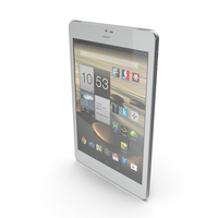 Android white PC Tablet 7 PNG & PSD Images