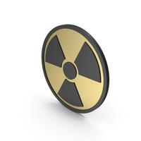 Radiation Sign Gold Black PNG & PSD Images