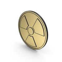 Radiation Sign Gold Black Bordered PNG & PSD Images