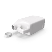 Plastic Style Bottle Half Gallon With Child Resistant Cap PNG & PSD Images