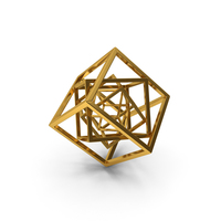 Cube in Cube Gold PNG & PSD Images