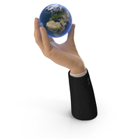Suit Hand Holding Earth PNG & PSD Images