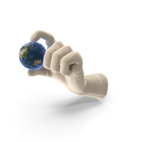 Glove Holding Tiny Earth PNG & PSD Images