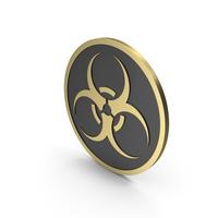 Biohazard Sign Gold Black PNG & PSD Images