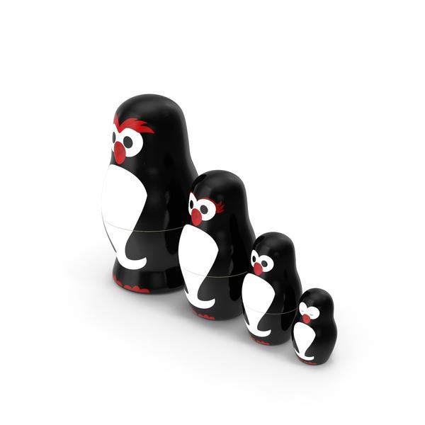 Matryoshka Penguin Set PNG & PSD Images