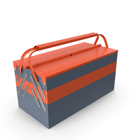Metal Cantilever Tool Box Orange PNG & PSD Images