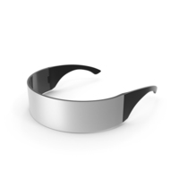 Metallic Silver Futuristic Soldier Glasses PNG & PSD Images