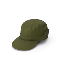 Military Green Field Cap PNG & PSD Images