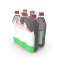 Mineral Water 1L Bottle Pack PNG & PSD Images