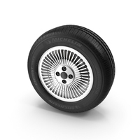 Michelin Tire and DeLorean Rim PNG & PSD Images