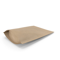 Zipper Kraft Paper Bag 220g PNG & PSD Images