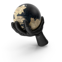 Glove Holding a Fantasy World Globe PNG & PSD Images