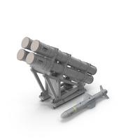 MK 141 Missile Launching System With AGM 84 Harpoon Missile PNG & PSD Images