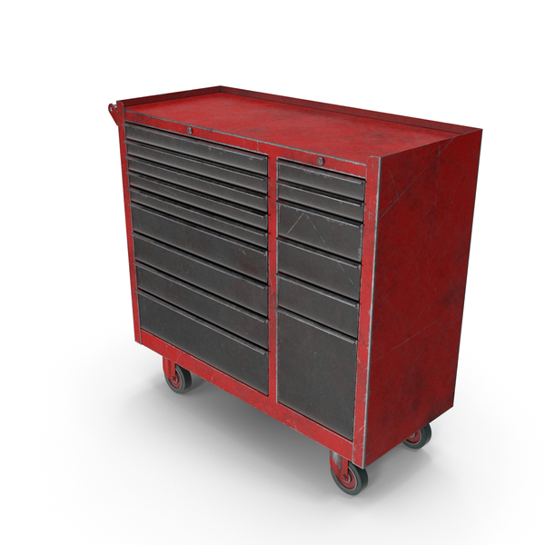 Closed ToolBox Red Used PNG & PSD Images