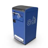 Modern Solar Recycling Bin PNG & PSD Images