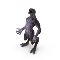 Monster Beast Standing Pose PNG & PSD Images