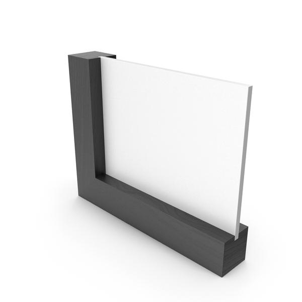 Wooden Frame Calendar Dark Wood Clean PNG & PSD Images