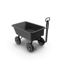 Garden Cart Black PNG & PSD Images