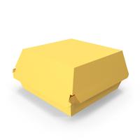 Burger Box Closed Yellow PNG & PSD Images
