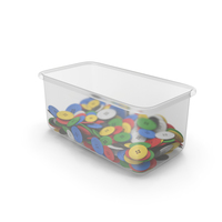 Cloth Buttons In Container PNG & PSD Images