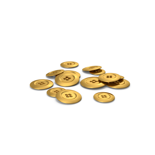 Pile Of Gold Buttons PNG & PSD Images